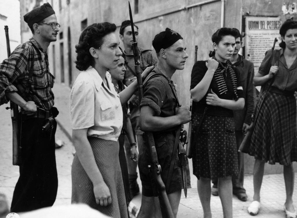 Partigiani a Pistoia, il 9 dicembre 1944.
